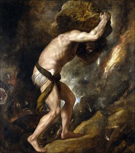 Can you relate? (Sisyphus by Titian)