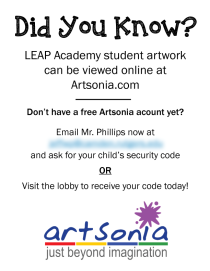 2015 Art Show Artsonia Flyer