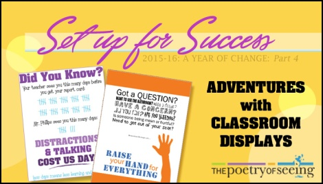 Using classroom displays to enhance instruction is essential for student success!