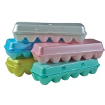 Empty egg cartons can serve as cost-effective paint cups for tempera or acrylic paint.