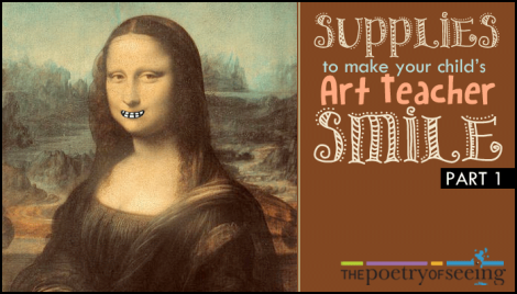 Unusual Supplies to Make Your Child's Art Teacher Smile (Part 1)