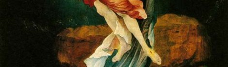 Resurrection panel from the Isenheim Altarpiece by Matthias Grünewald, 1510