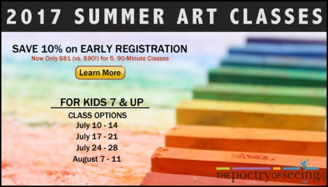 Sign up for Summer Art Classes and receive a 10% discount during Early Registration!.